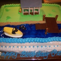 Camp Birthday This cake was a replica of a camp that a family owed on a lake. The camp is made out of gumpaste (I actually got the template from a...
