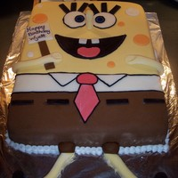 Spongebob Birthday Birthday cake for a 5 year old boy
