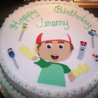 Handy Manny Cake This cake was for my nephew. Handy and his pals were a PITA to make, if you know what I mean. Lots of little peices of fondant. YIKES!!