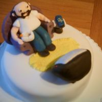 Male Retirement Retirement cake for a man who was interested in the TV remote, smoking and chilling out