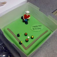 Bowling Green This was a birthday cake for a man who played bowling each week.