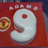 Manchester United Football man utd football cake - for a 9 year old party