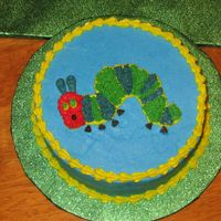"Caterpillar Smash Cake   Smash cake based on ""the very hungry caterpillar"" book."