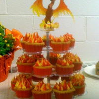 Phoenix Cupcakes A phoenix is a mythical bird that burns when it dies and is reborn from it's ashes. Plastic phoenix from Michael's mythical...