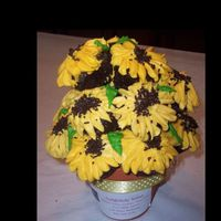 Black Eyed Susan cupcakes for a school bake sale