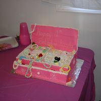 Jewlery Box Cake For my Niece. Its was kind of a pain to make (well the back was).