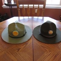 Drill Sergeant Hat I made this for my brother-in-law for getting out of the military he was a drill sergeant at his last station. Obviously the one on the...