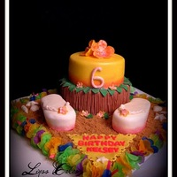 Hawaiian Luau Cake Hawaiian Luau Cake Inspiration came from a photo chosen by the Birthday Girl. Shout out to Kimmy here on Cake Central for sharing the photo...