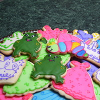 Audrie's Cookies NFSC for Granddaughters 3rd Birthday. Princess theme party. Tiaras frogs & dresses. Oh & one caterpillar, (her nickname given to...