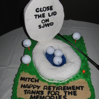 Close The Lid! This was a retirement cake for a gentleman whose work involved doing conservation evaluations for the water district. His coworkers wanted...