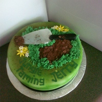 Jungle Taming Gardner This is the second of three cakes for an anniversary (for the husband); and my favorite of the three. Chocolate cake. Covered in white...