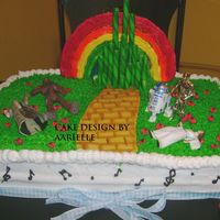 Wizard Of Oz Vs. Star Wars this cake was made for a really big starwars and wizard of oz fan. the star wars figurines are sapost to be like the part in the wizard of...