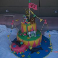 Circus Cake A friend picked this out off of this site so I can't take credit for the idea. I would be interested in what I should have charged her...