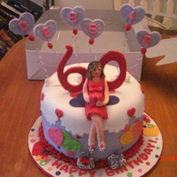 Valentine Birthday Birthday cake with a Valentine theme