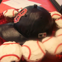 Baseball Hat With Ball Cupcakes