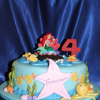 Ariel Cake All the pieces are made of gumpaste or fondant.. The customer gave me the pic.