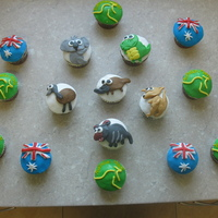 Australia Day Cupcakes These are some cupcakes that I made for Australia Day to take to a friends house.Chocolate with cherries & cream in the centre
