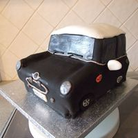 Mini Car mostly maderia sponge, with a little victoria sponge for the shape! indydebi's bc inside, and fondant to decorate. looks like my...