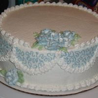 Class - Roses This was the cake from my fourth night at class. It was the first time I've done roses, and the 3rd cake I've ever done. The...