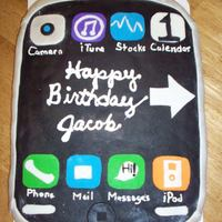 Iphone my first not so great attempt at an iPhone cake