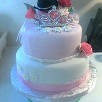 Rodeo Princess Cake Chocolate cake with strawberry filling. Michele Foster's fondant, SeriousCakes BC. Flowers are gum paste. TFL