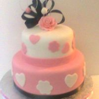 Pink And White Birthday An 18th birthday cake. I only had 12 hours to put it together! 9 and 6 inch orange dreamsicle filled with Serious_cakes buttercream. Dusty...