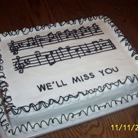 "Taps Our school's band director was retiring. This cake was for him. For those who don't read music, it's ""Taps"". He..."