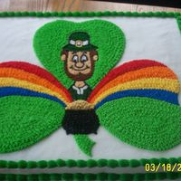 Gold 'n Rainbow I tried to get most St. Patty's Day symbols on this cake. I made it for our church's St,Patrick's Day fundraiser dinner.