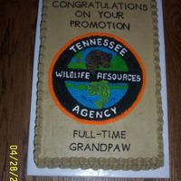 "Tennessee Wildlife Resources Retiring Officer  My little sister is a dispatcher for TWRA. One of ""her"" officers was retiring. I copied this picture from a uniform badge for his..."
