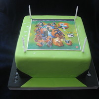 Ben 10 Cake This is a cake for the little boy who loved Nemo last year! It's Vanilla Wasc, with alternating layers of lemon cream and custard...