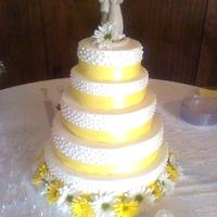 Yellow Ribbon Cake butter cream icing with sour cream pound cake