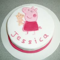 Peppa Pig Birthday Cake I made this for a friend's little girl, its a sponge cake with lemon curd filling, covered in fondant. The Peppa Pig is made as a...