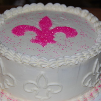 Geaux Saints (Pink) I had to bring a cake to my mom's Super Bowl party and all I had in the cabinet was pink sprinkles. This is what I came up with. I had...