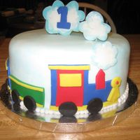 Train Cake This cake was for a small bday party for a baby 1st bday
