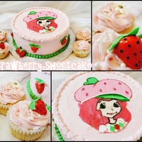Strawberry Shortcake This is an eggless vanilla cake and cupcakes for a lady who orders from me every year for her daughter. I was inspired by my daughter'...