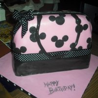 Mum's Birthday My Mum is obsessed with Disney. I found a purse online that inspired this cake and I was very unhappy with the outcome. :( Her birthday...