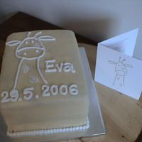 Eva   Eva's birthcard was copied to this cake in Royal Icing.