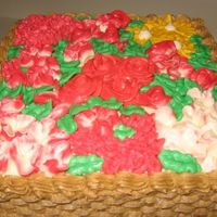 Flower Basketweave Cake