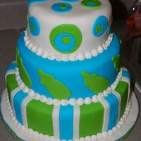 It's A Boy This is the cake I made for my sister-in-laws baby shower. The cake matched the colors perfectly for her shower.