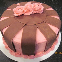 Simple Pink & Brown   Just a simple pink and brown cake. Again, thanks for all the ideas here on CC.