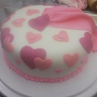 Fondant & Gumpaste Course This was done around Valentine's Day in the Fondant & Gumpaste Course. It's rolled fondant over BC with fondant swag &...