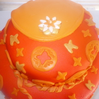 "Orange Cake My friend wanted a purse that that would feed a lot of people so this is what I came up with. This is a 6"" and a 10"" two tier..."