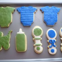Welcome Baby Boy The cookies are Toba Garrett's Butter Cookie formula and i used MMF to decorate them. Thanks for looking