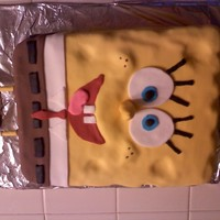 Spongebob Squarepants  This is a WVSC Cake (Was asked to leave out the almond, so substitutede vanilla). It is filled with strawberry filling, and covered with...