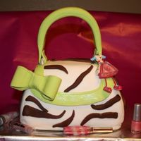 12Th Birthday Purse Coconut cake and coconut buttercream purse cake. Covered in fondant with chocolate fondant zebra stripes. Gumpaste handle and bow. Birthday...