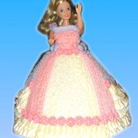 Barbie Cake   Barbie cake made with wilton wonder mold iced in buttercream