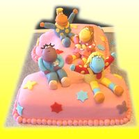 "Tweenies 1St Birthday Cake   Number 1 shaped cake iced in fondant with ""Tweenies"" also made out of fondant."