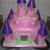Pink And Purple Fairy Castle i get asked alot for these!! i try to make each one a bit different!