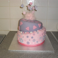 Pink And Purple Tosy Turvy Cake my first wonky cake