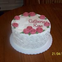 Christening Cake RI roses; all else is BC.